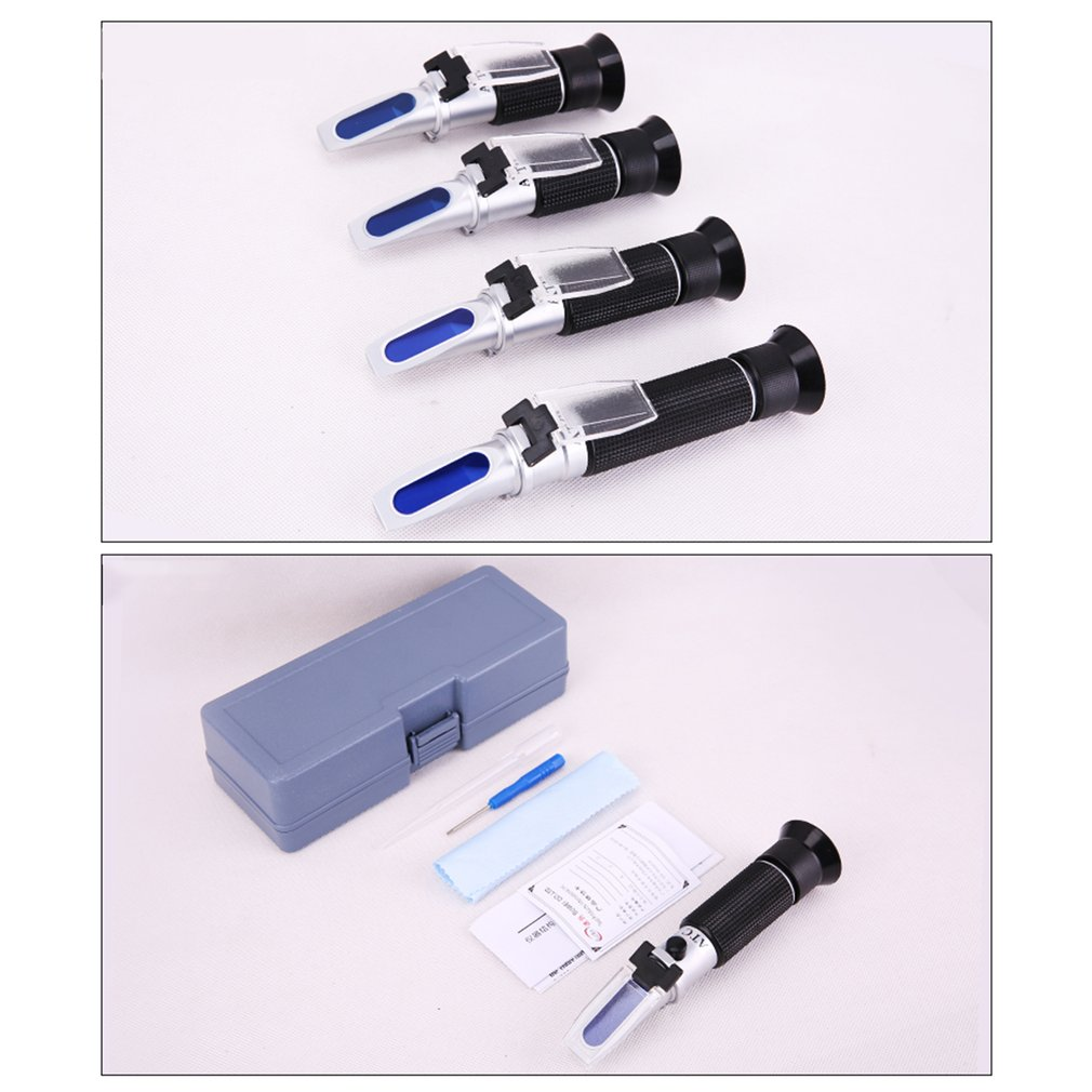 Handheld Refractometer Copper Core Sugar Salinity Concentration Meter Fruit Sweetness Freezing point Baume Honey Tester