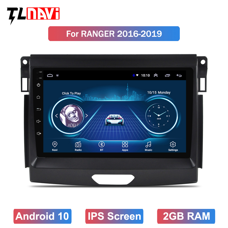 Car Radio DVD Player GPS Navigation For Ranger 2016~2019 Android 10 System Audio Video Stereo In Dash Head Unit