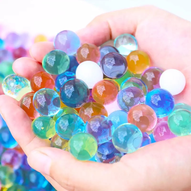 3000pcs Color Water-absorbing Beads Crystal Soil Growth Water Polo Hydrogel Pearl Ball Educational Toy Furniture Decoration