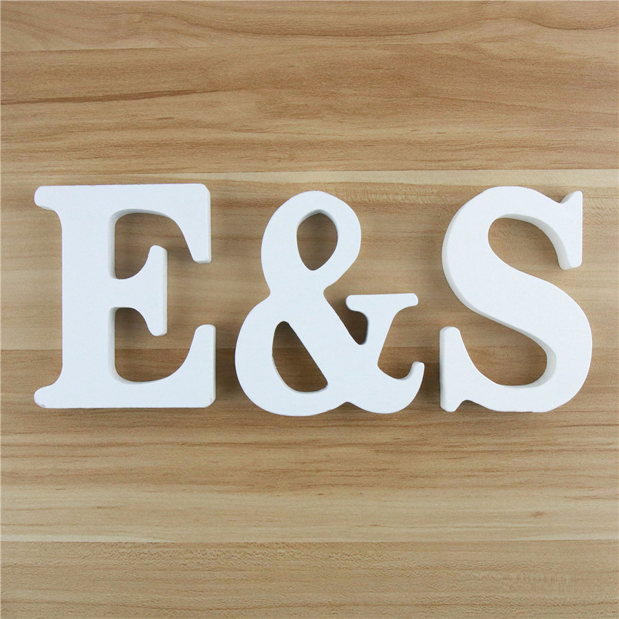 1pc 10cm White Wooden Letters Alphabet DIY Word Letter Name Design Art Crafts Standing Party Birthday Home Decor 3.94 Inches