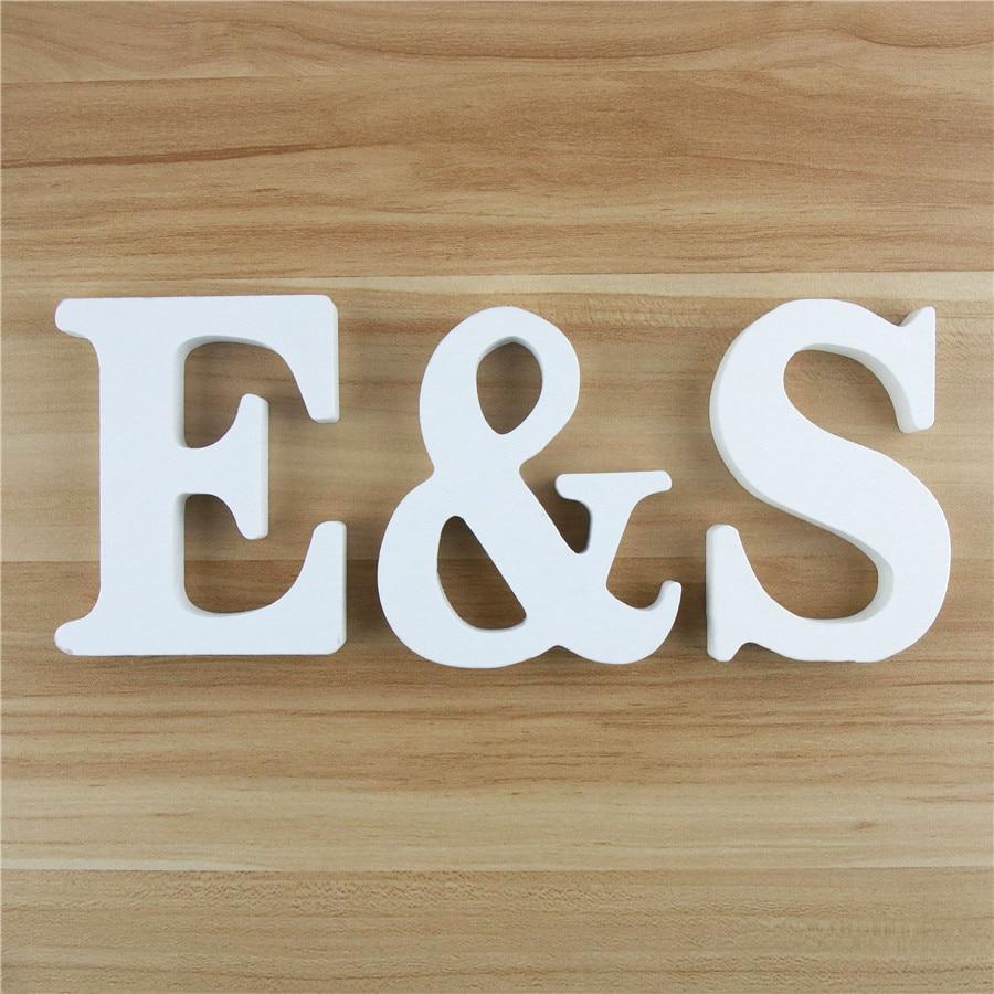 1 шт. 10 см белые деревянные буквы алфавита «сделай сам» буквы с именем дизайнерские художественные изделия стоячая Вечеринка день рождения ...