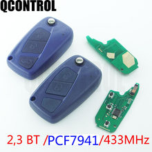 QCONTROL ID46 خاص الوجه مفتاح بعيد لشركة فيات باندا 2003 2004 2005 2006 2007 2008 2009 2010 2011 2012 استبدال حقيقية مفتاح