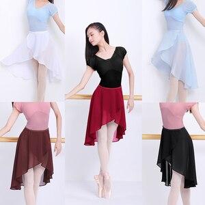 Ballet Skirt Women Adult Long Wrap Chiffon Skirt Ballet Tutu Skate Skirt Adjustable Buckles Ballerina Dance Wear