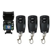 DC 24 v 1CH mini RF draadloze afstandsbediening verlichting schakelaar Leren code ontvanger + zender 315/433MHZ 10A relais