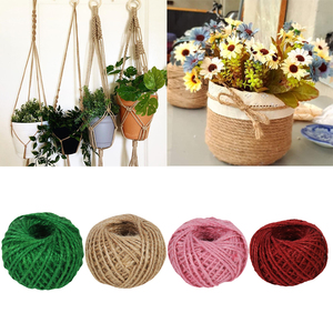 30m/roll Jute Twine Cord Natural Jute String rope Gift Packing String Decor DIY Home craft Rustic Wedding Christmas Party Supply
