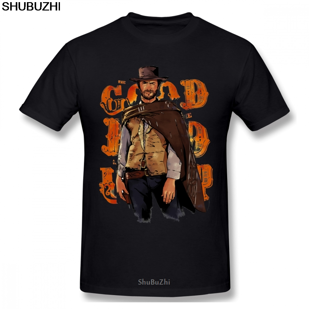 Clint Eastwood The Good The Bad and The Ugly <font><b>T</b></font>-<font><b>shirt</b></font> for <font><b>Men</b></font> Plus Size S-<font><b>5XL</b></font> Group Top New cotton Summer Style <font><b>T</b></font> <font><b>Shirt</b></font> image
