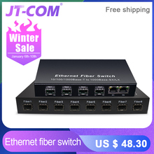 Gigabit SFP Fiber Switch  1000Mbps Optical Media C