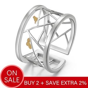 Женское кольцо Lotus Fun, Открытое кольцо из настоящего серебра 925 пробы, изящное ювелирное изделие, украшение на окно, украшение из бумаги