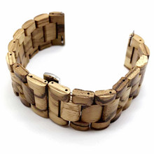 Natural Wood Quick Release Watch Band for Samsung Gear Sport S2 S3 Strap for Huawei GT 2 Galaxy Watch 42 46mm DIY Replacement