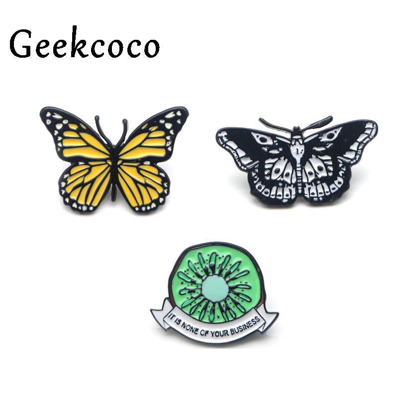 Harry styles butterfly Zinc alloy tie pins badges para shirt bag clothes cap backpack shoes brooches badges decoration J0114 in Brooches from Jewelry Accessories
