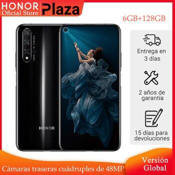 Купить Глобальная версия Honor 20 смартфон 6 ГБ 128 ГБ Kirin 980 6,26 ''48MP четыре камеры сотовый телефон Googling play superCharge NFC