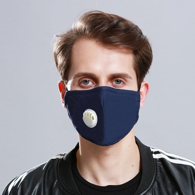 1Pcs Black PM 2.5 Mouth Mask Anti Dust Mask Fashion Cotton Windproof Mouth-muffle Proof Flu Face Masks Care Reusable 4