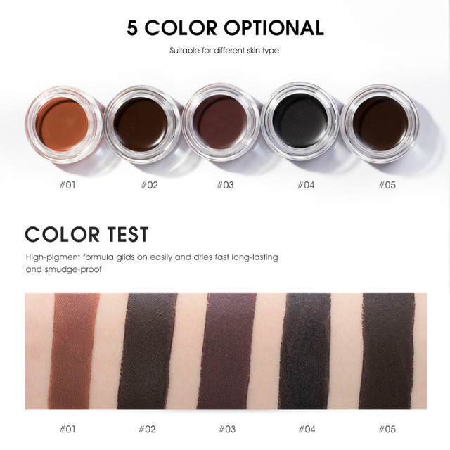 5 Color Eyebrow Tint Makeup Waterproof Eyebrow Pomade Gel Enhancer Cosmetic Eye Makeup Eye Brow Cream with Brush Professional 2