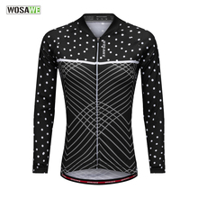 WOSAWE Cycling Jersey Pro Polyester Bike Summer UV protect Long Sleeve Men Women Quick Dry Wear Top Bicycle Shirt Jacket