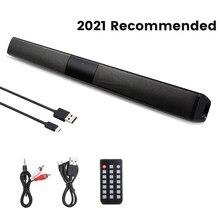 20w soundbar coluna portátil sem fio bluetooth alto-falante poderoso 3d música som barra de cinema em casa aux 3.5mm tf para tv pc