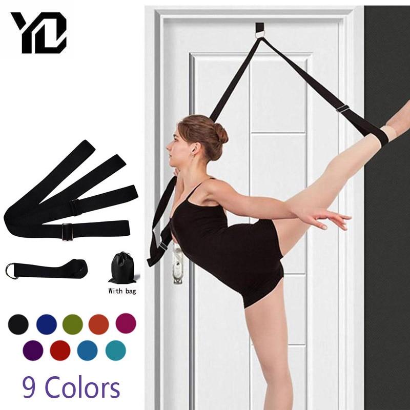 3m porta flexibilidade alongamento yoga estiramento cinta perna maca cinta d-anel cinto dança ginástica resistência fitness ginásio bandas