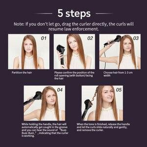 Image 4 - Rizador de pelo automático LCD nuevo, rizador mágico para mujeres, herramientas de estilismo ondulado, rizador antipermanente de calentamiento de cerámica para mujer