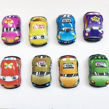New Cute Cartoon Mini Vehicle Car Toy Pull-back Style Truck Wheel Educational Toy for Kids Toddlers Diecast Model Car Toys 6pcs lot multicolor plastic cartoon mini pull back boy car model toys set educational toy for children car toys