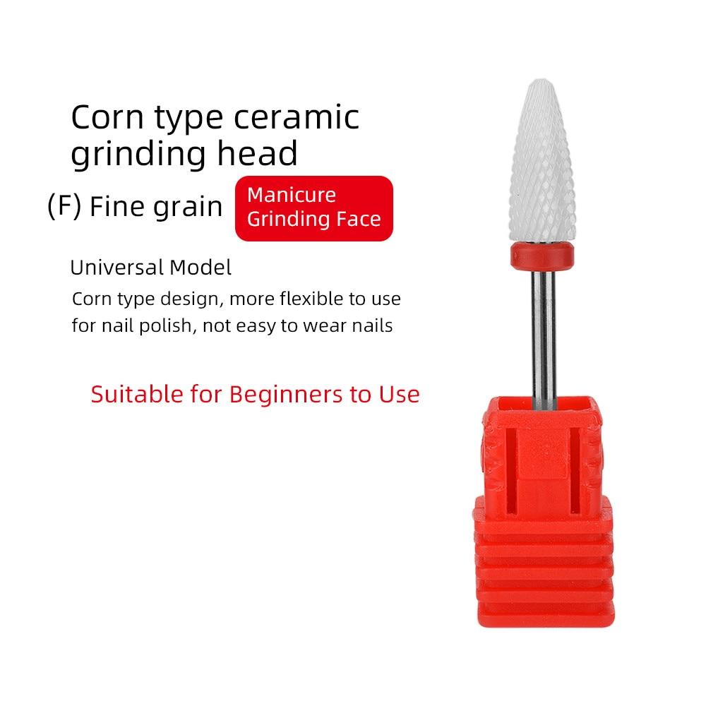 ATOMUS керамический сверло для ногтей Электрический фреза для ногтей для маникюра педикюра аксессуары для ногтей инструмент для удаления лака для ногтей - Цвет: Светло-зеленый