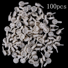 100pcs  White Plastic Invisible Wall Mount Photo Picture Frame Nail Hook Hanger Hard Picture Frame Wall Hooks For Photos