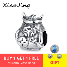 XiaoJing New 100% 925 Sterling Silver brave Armor warrior beads soldier men charm fit Pandora Bracelet For Jewelry Gifts 2019