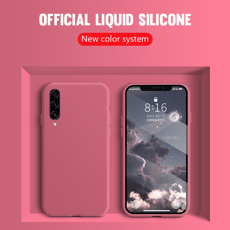 Thin Soft Case For Samsung Galaxy A71 A51 S20 Ultra Plus A10S A20S A30S A50S A60 A70 A80 S10E M30 Original Liquid Silicone Cover