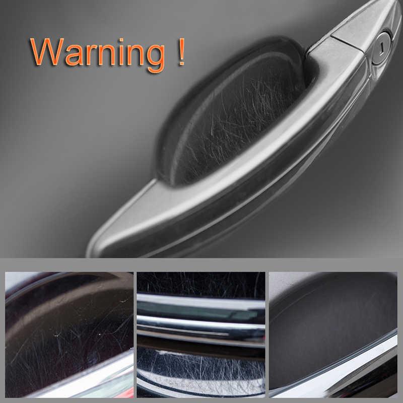 Auto in fibra di carbonio Maniglia Della Porta Sticker Per Mitsubishi Grandis Outlander ASX RVR Pajero LancerEvo l200 l300 3000gt 3d 4m41