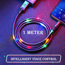 Visible Glowing music voice-activated data line USB/Type-C Smart Charging Data Lighting Cable For iPhone&Android Xiaomi