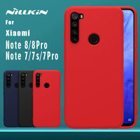 Für Xiaomi Redmi Hinweis 8 7 Pro 7s Fall Nillkin Gummi Gewickelt Flüssigkeit Silikon Weichen Touch Zurück Abdeckung Nilkin telefon Fall