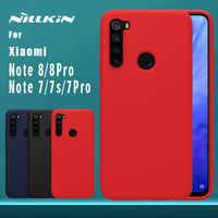 Pour Xiaomi Redmi Note 8 7 Pro 7s étui Nillkin en caoutchouc enveloppé de Silicone liquide doux au toucher coque arrière Nilkin coque de téléphone