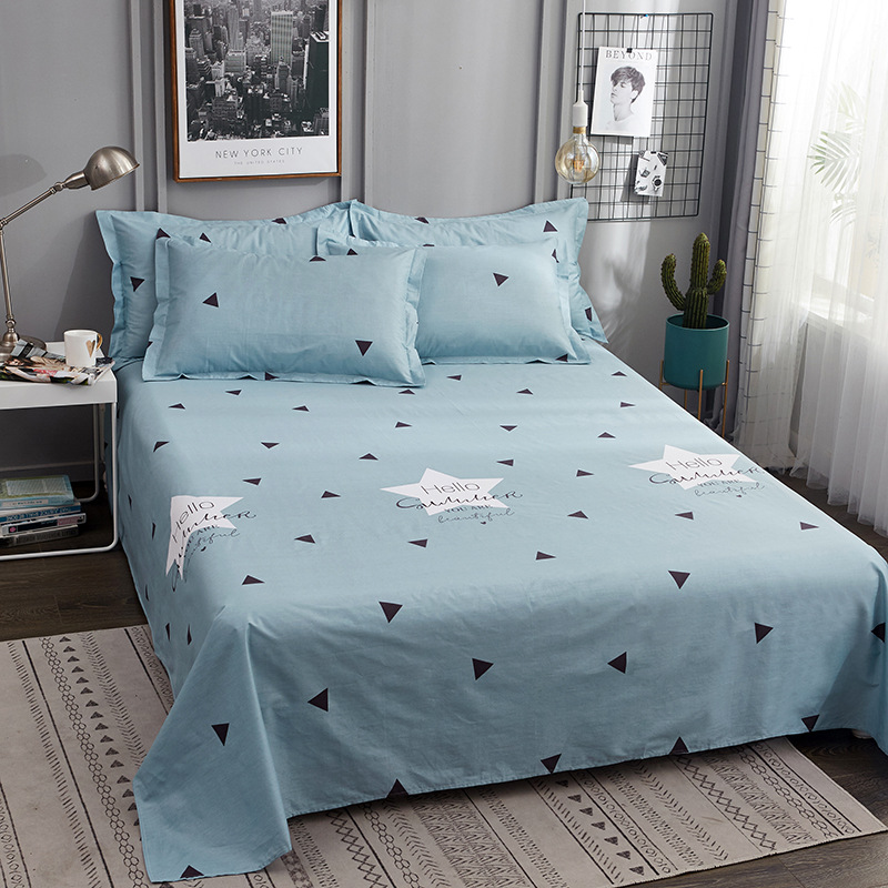 Circles with Floral Nature Details in Hexagonal Order and Blue Tones Print Violet Blue White Lunarable Floral Flat Sheet Twin Size Soft Comfortable Top Sheet Decorative Bedding 1 Piece
