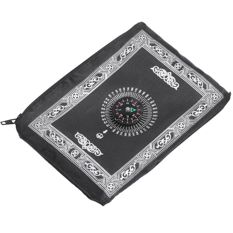 Image 3 - 2 Set Ramadan Islamic and Muslim Travel Prayer Mats,Compass  Pocket Size Tote Bags, 1 Set Black