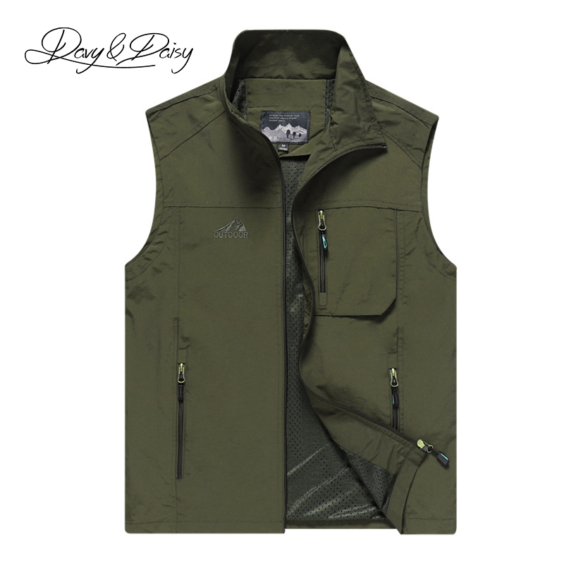 DAVYDAISY 7xl 6xl 5xl Men Casual Sleeveless Vest Hip Hop Waistcoat Thin Outerwear 4 Colors Plus Size Man Summer Coat DCT-286