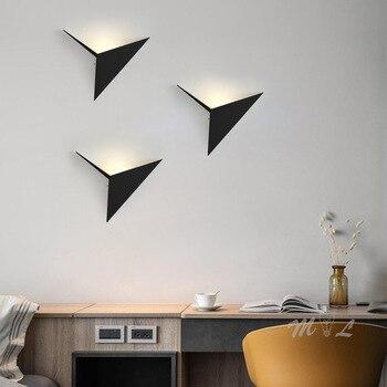 Nordic bird light LED Wall + lamp chandelier, small wall light illuminates ladder accessory 3D led washing machine light