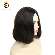Kosher Jewish Wigs European Remy Hair With Baby Hair Straight Human Hair Wigs Silk Top 4# Color Kosher Wig Pre Colored(China)