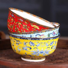 5.5 inch Jingdezhen Ceramic Bowl Chinese Style Bone china Tableware Soup Rice Bowls Ramen Mixing Food Container Home Dinnerware 5 6 8 inch japanese cherry blossom ceramic ramen bowl large instant noodle rice soup salad bowl container porcelain tableware