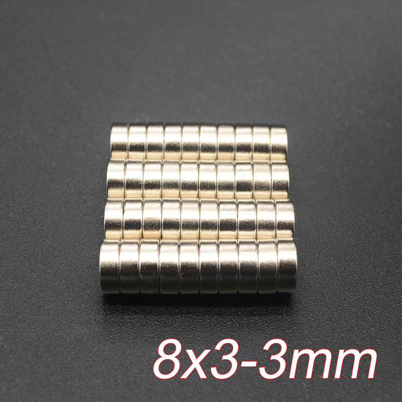 10pcs Disc Mini 8x3mm with Bore 3mm N35 Rare Earth Strong Neodymium Magnet Bulk Super Strong Round Shape Magnets