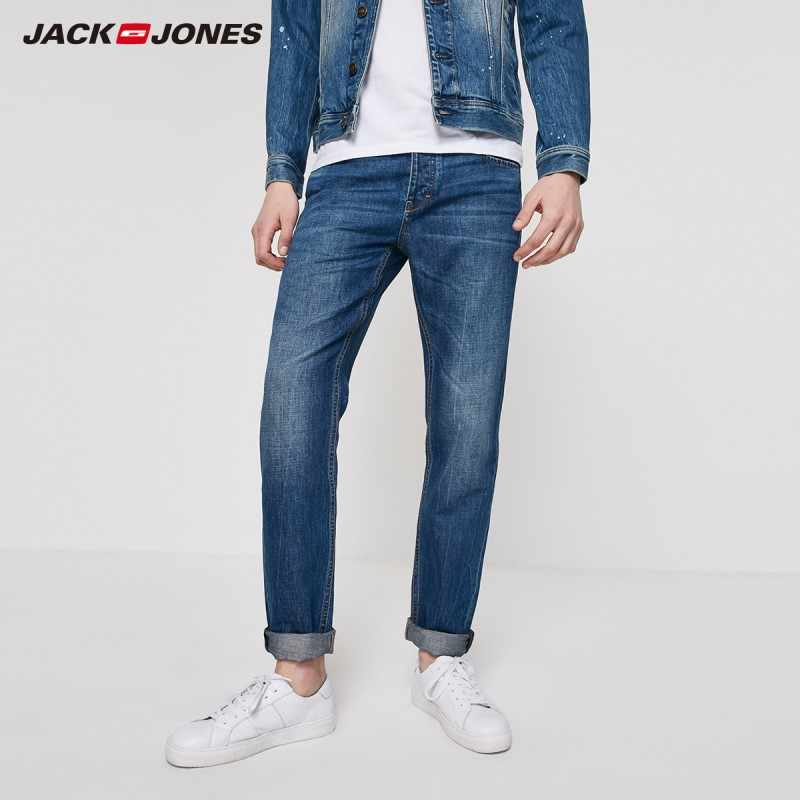 Jack Jones Mannen Losse Straight Fit Donkere Kleur Jeans Jackjones Menswear | 219232522