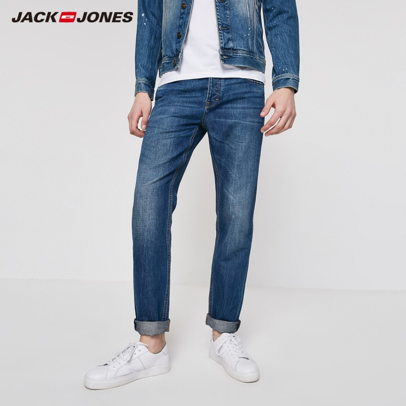 JackJones Men's Autumn&Winter Loose Straight Fit Dark Color Jeans| 219232522