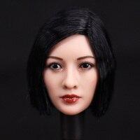 1/6 Scale Female Head Sculpt Demon Huntress Headplay Long