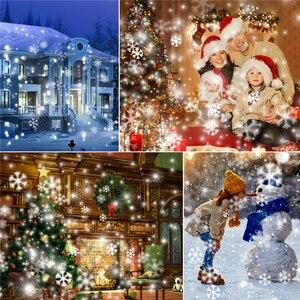 Image 2 - Светодиодный светильник s Snowfall, Рождественский проектор, домашний, уличный, садовый, Снежная сцена, светильник IP65, Рождество, Новый Год, Snowfall, светильник + пульт дистанционного управления