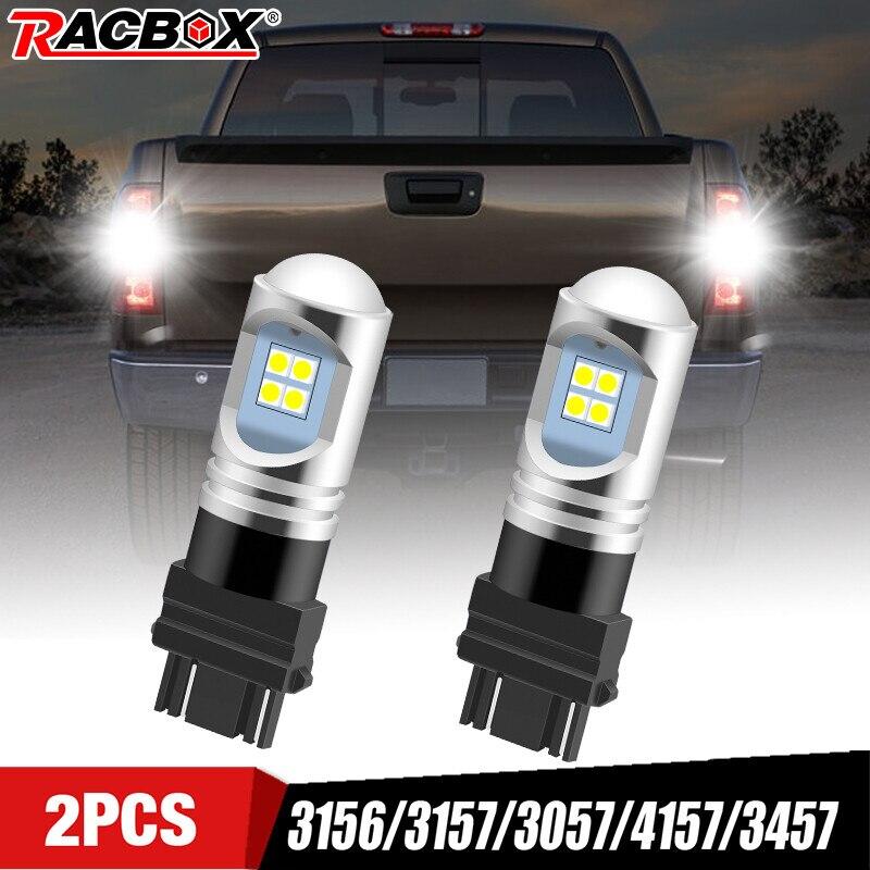 Bombillas Led traseras para coche, luz de marcha atrás, luz de freno blanca, 12V, para Ford Chevrolet GMC, 3156, 3157, 3057, 4157, 3457