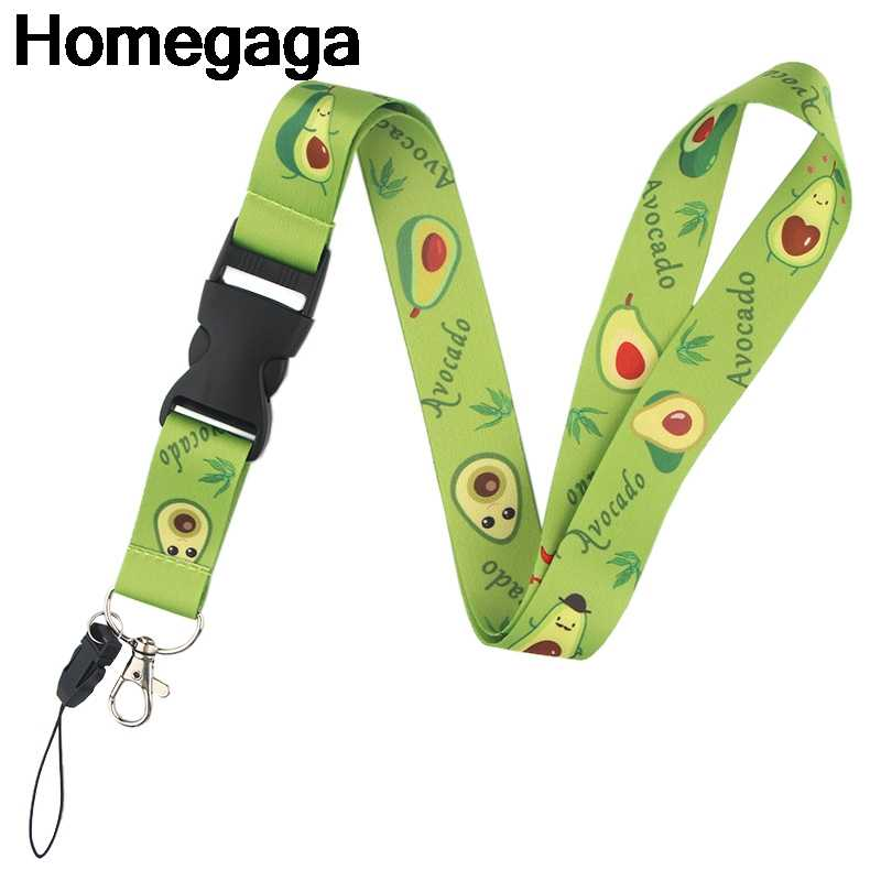 Homegaga Avocado Lanyards id badge phone holders necklace accessory for keys neck straps id badge holders webbing ribbons D2331