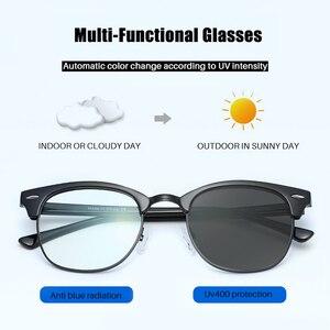 Image 4 - AEVOGUE fotokromik gözlük reçete çerçeve erkekler optik gözlük kadın gözlük Anti mavi ışık gözlük KS101