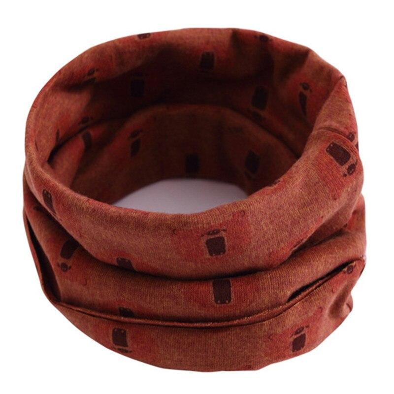 Весенне-осенне-зимний детский хлопковый шарф для От 0 до 10 лет, Детские шарфы с героями мультфильмов, модный теплый воротник - Цвет: 53