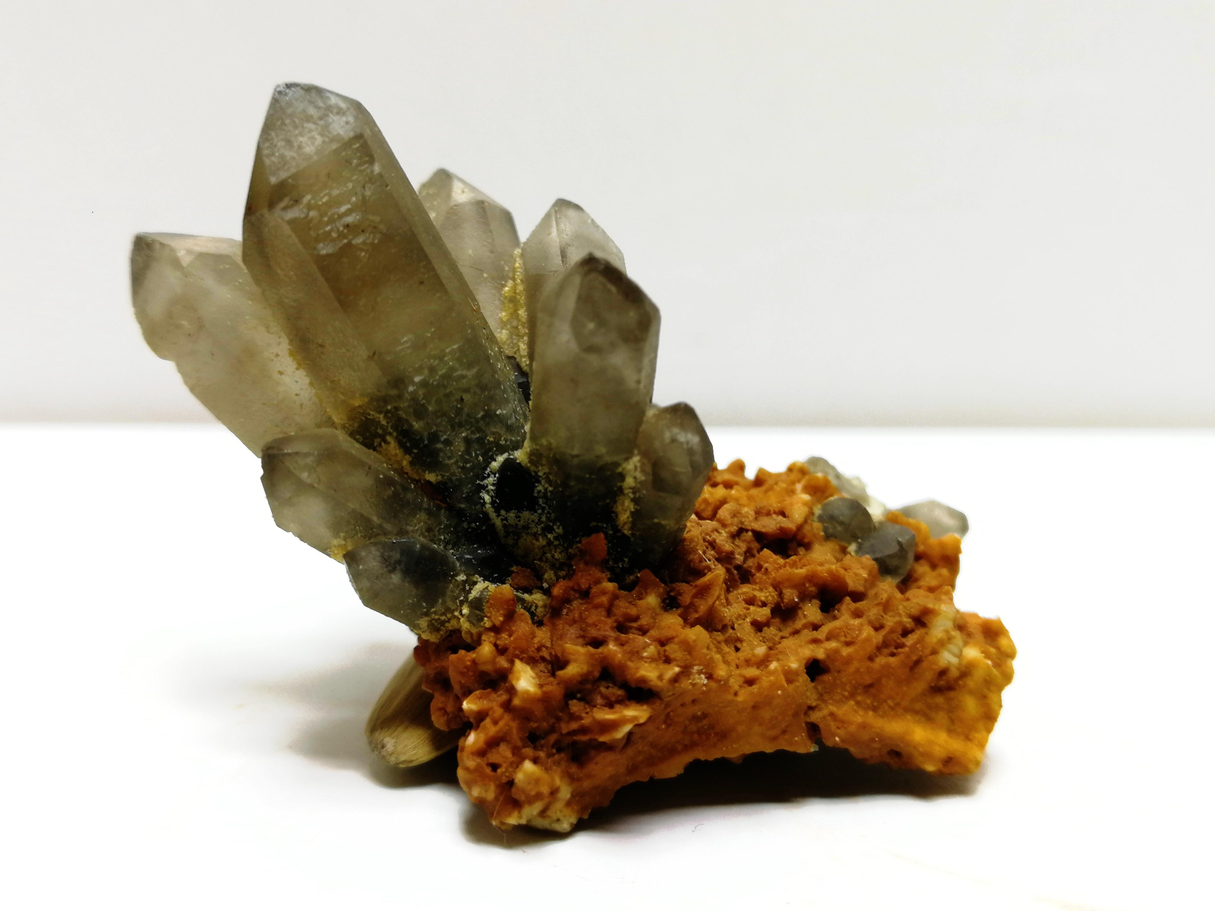 Ornamento da Mobília Gnatural Cristal Cluster Quartzo Mineral Espécime Energia Mágica Pedra 16.5
