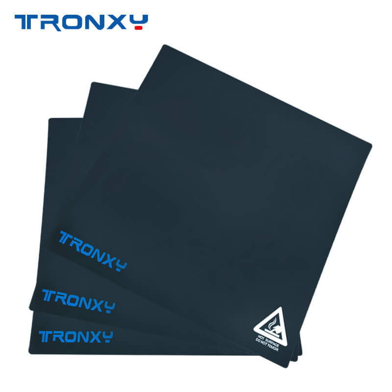 Tronxy 3D Printer Parts Black masking tape 220 220mm 255mm 255mm 330 330mm Size Print Bed Tape heatbed sticker Accessories