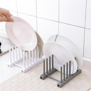 Kitchen Dish Dry Rack Sink Holder Dish Plate Organizer Drainer Kitchen Storage Plastic Plate Cups Stand Display Holder(China)
