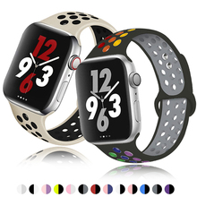 Soft-Silicone-Band Rubber-Strap Watch-Series Apple 38mm for 1/2/3 42mm 40MMM 44MM 6 5