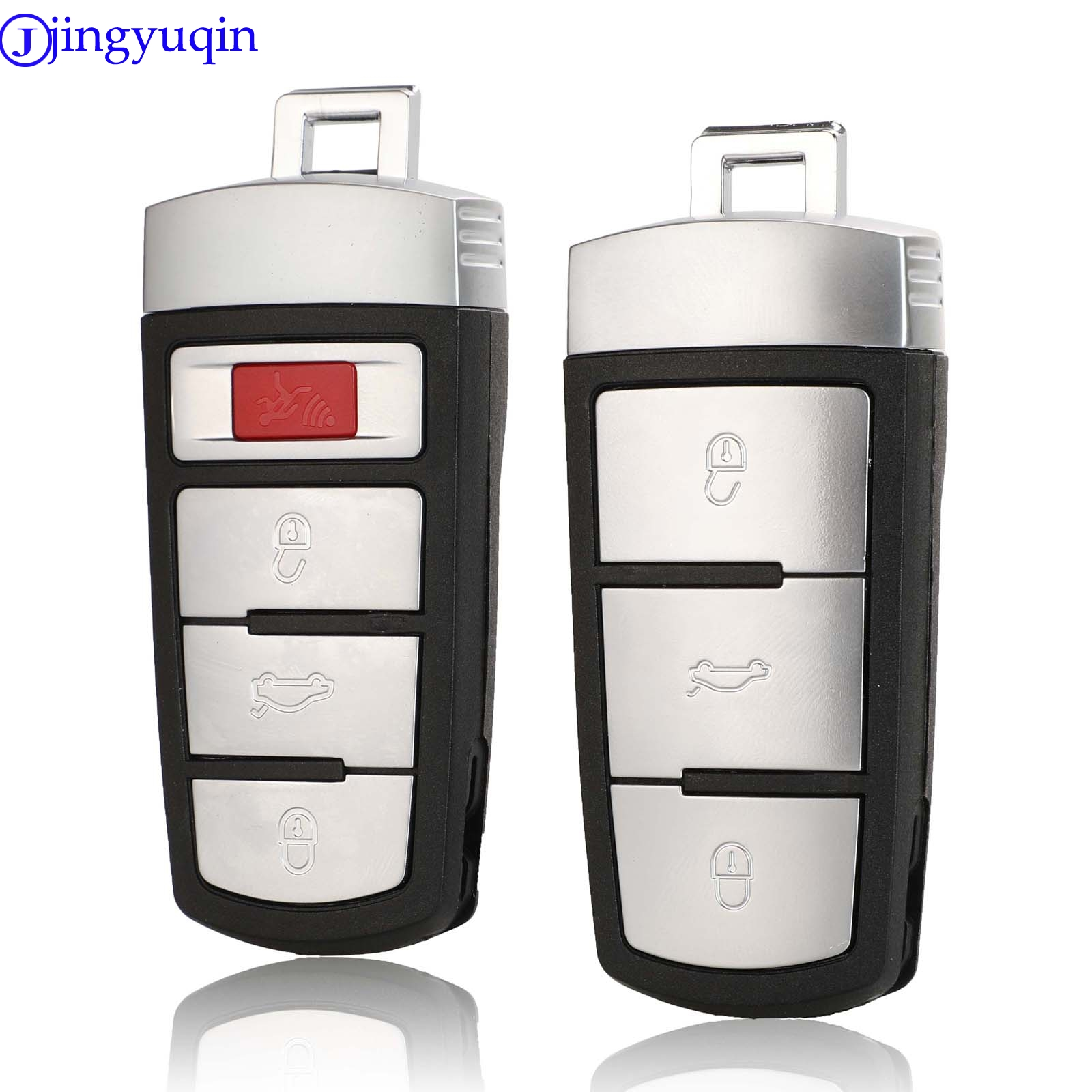 Jingyuqin Remote 4 Buttons Car Key Case For Volkswagen VW Passat CC B6 B7 B7L CC R36 Maogotan B5 Passat 3C Car Key Shell